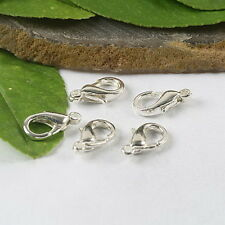 50pc x 18mm Silver Plated Lobster Clasps Large Craft Jewellery Making Uk Seller
