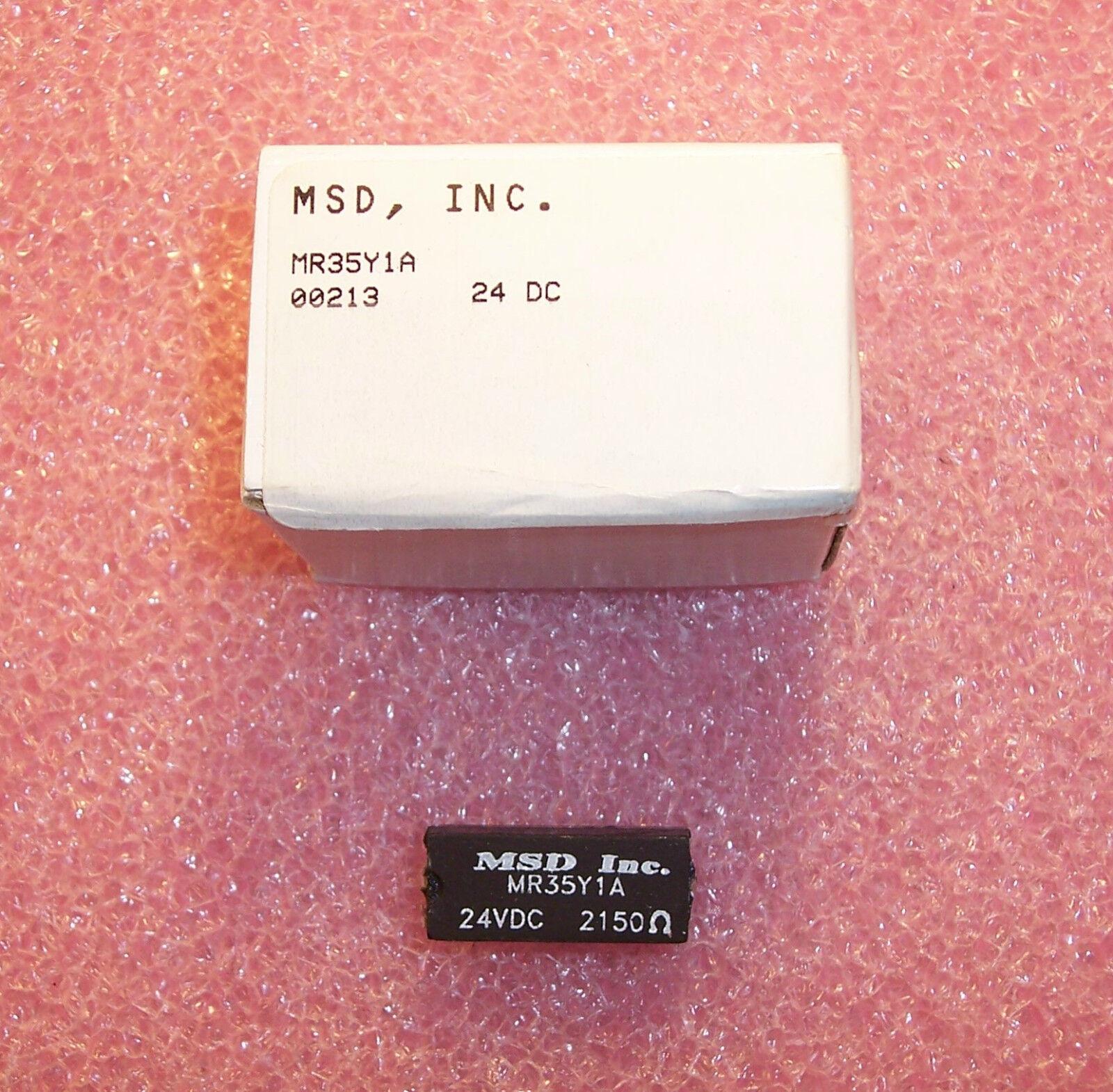 Qty 1 Mr35y1a 24v Msd Spst No Reed Relay 2150 Ohm Nos Ebay 5v Spdt Norton Secured Powered By Verisign