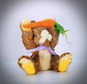 "Natural Woodland Carrot Easter Bunny Figurine Figure Rabbit Decor Festive  8"""