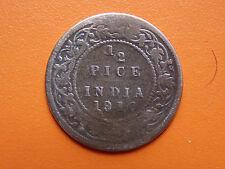Edward VII King & Emperor 1/2 Pice India 1910 Bronze Coin