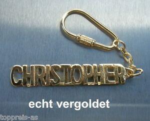 Edler SchlÜsselanhÄnger Christophe Vergoldet Gold Name Keychain Geschenk Schlüsselanhänger