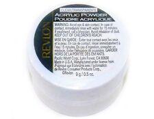2 - Acrylic Nail Powder by Revlon Clear Manicure Fingernail Art NEW Sealed