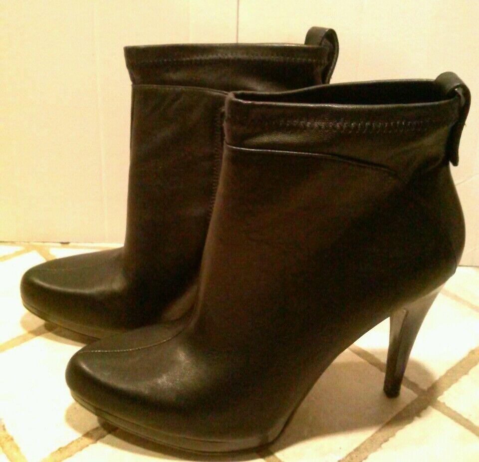 NOUVEAU  Nine West y être noires compensées Man Made Cheville Bottes Chaussures 8 -  119.00