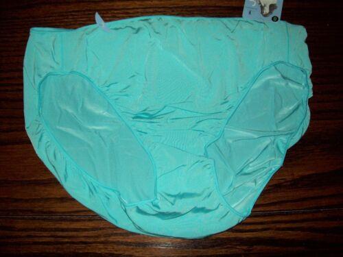 NWT JOCKEY No Panty Line TACTEL NYLON BIKINI PANTIES 1370 aqua  5 6 7 8 S M L XL
