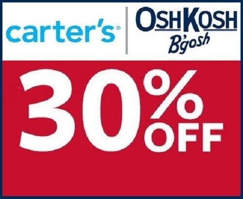 CARTER'S / OSHKOSH 30% off coupon code (Valid through September 30, 2020)