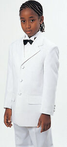 Boy's Tuxedo Three Button  jacket with Pants set Design By Milano Moda T907