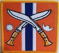 Gurkha Flag Embroidery Iron-on Patch Military Emblem orange Color