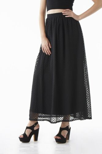 NEW Sizes 10 or 12 £30.00 Chase 7 Black or Orange Party Evening Maxi Skirt