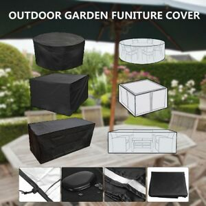 4-10Seaters-Table-Set-Waterproof-Cover-Garden-Patio-Furniture-Shelter-Outdoor