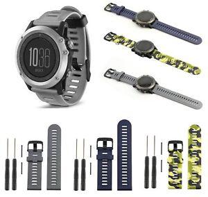 Neu Silikon Armband Uhrenarmband Band Fur Garmin Fenix 3 Hr Gps