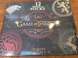 d83534d171816 Game of Thrones 12 Days of Socks - Womens Socks Advent Calendar ...