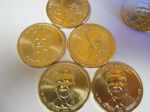 2016 4P /& 1D 5 Coins Ronald Reagan Presidential Dollars From US Mint Roll UNC