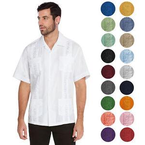 vkwear-Men-039-s-Guayabera-Cuban-Beach-Wedding-Casual-Short-Sleeve-Dress-Shirt