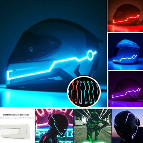 Motorcycle Helmet Cold Light Strip Helmets Mode Night Time Ridings Signal LRDRK
