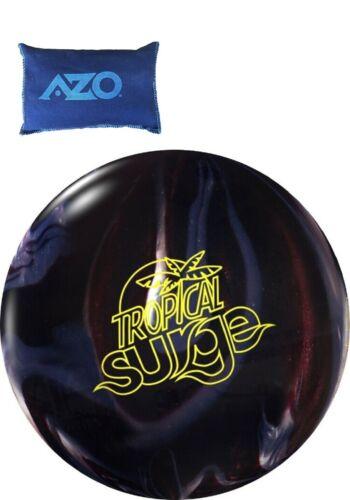 13lb Storm Tropical Surge Pearl Reactive Bowling Ball Carbon//Chrome /& AZO Grip