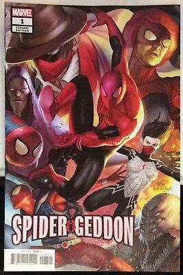 Spider-Geddon 4 Main In-Hyuk Lee Connecting Variant Set Marvel 2018 NM