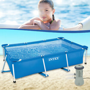 intex 300x200x75 cm swimming pool mit pumpe schwimmbecken frame stahlwandbecken ebay. Black Bedroom Furniture Sets. Home Design Ideas