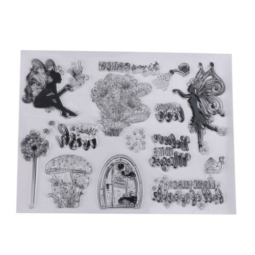 Transparent Clear Silicone Stamps Fairy for DIY Scrapbooking Card MakingLD