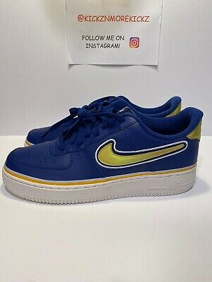 Shop Styles Nike Air Force 1 07 1 Blue AO2409 400