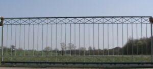 Détails sur Ferme Porte Du Jardin Coulissante Crossline-FTS400/120 Zinc