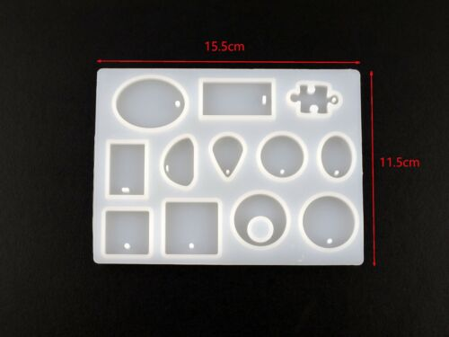 New 12 Silicone Mould Pendant Jewelry Mold Craft DIY Resin Round Making Necklace