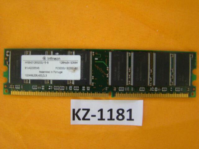 Infineon HYS64D32300GU-5-B - 256 MB, DDR SDRAM, 400 MHz, DIMM 184-pol #Kz-1181