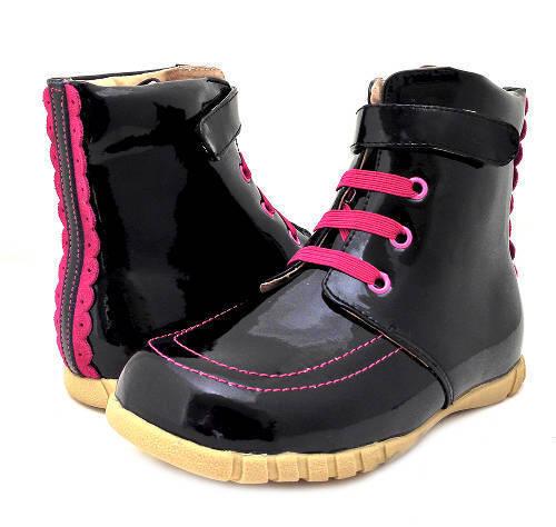 NEW LIVIE /& LUCA Boots Roxie Black Patent 13 HTF!