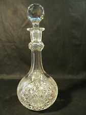 "GORGEOUS AMERICAN BRILLIANT PERIOD (ABP) HUGE 14 1/2"" CUT GLASS DECANTER"