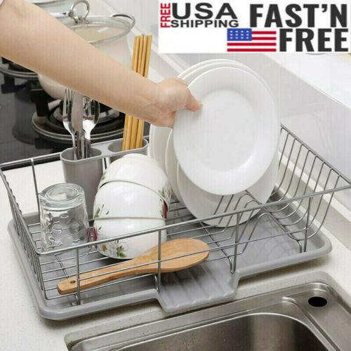 Stainless Steel Drain Dish Rack Tableware Cutlery Drain Rack