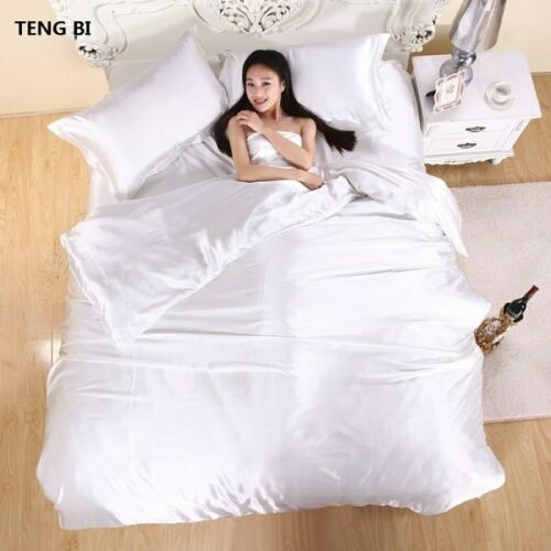 HOT 100/% pure satin silk bedding set,Home Textile King size bed set,bedclothes
