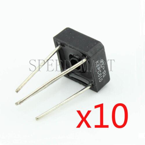 10 pcs KBPC610 Bridge Rectifier Gleichrichter 1000V AC change DC 6A KBPC-610