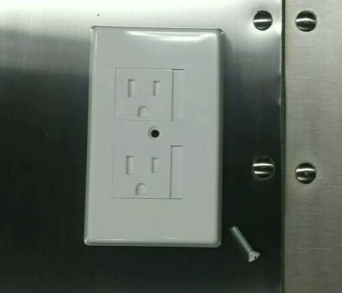 Tamper resistant outlet cover 10pcs White TRW15W Cooper wiring devices.