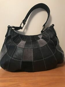 Image Is Loading Lucky Brand Leather Amp Suede Patchwork Purse Vintage