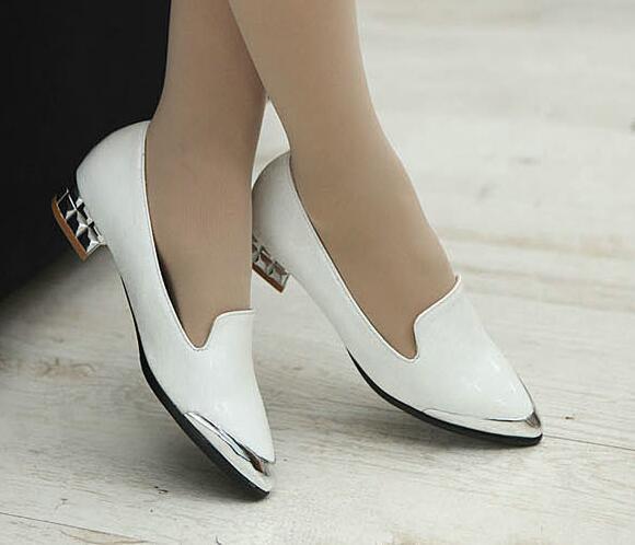 Bailarinas mocasines zapatos  de mujer 3 pan de la tierra blanco plata talón 3 mujer cm 60b0ef