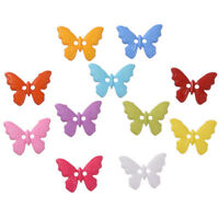 100 x Assorted Plastic Butterfly Buttons - 17mm x 22mm Sewing Dressmaking Craft