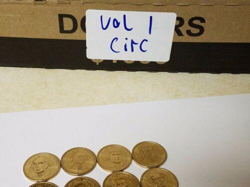 2007-2011 Volume 1 Set $1 First 20 Circulated Dollar Coins 1 Each President