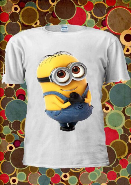 Minions Despicable Me New Cute Glass Funny Men Women Unisex T Shirt Vest Top 3m