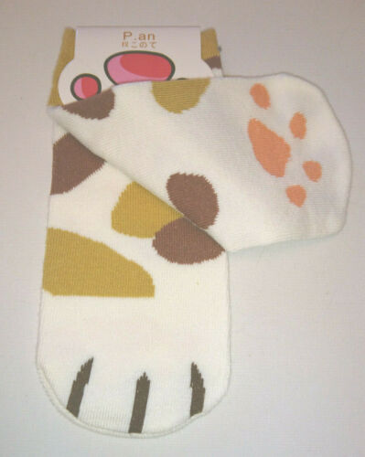 Kids Ladies KITTY PAW LOW ANKLE SOCKS Tortoiseshell GREY TABBY Ginger White PADS