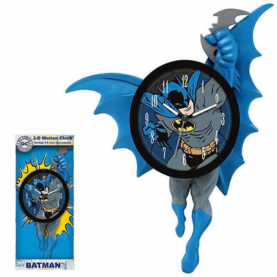 "*NEW IN BOX* DC Comics - Batman 3D Motion WalClock 14"" - Mathematics & Counting"