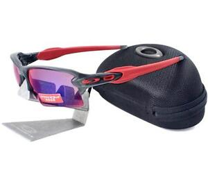 a893ba20fb518 Oakley OO 9188-04 FLAK 2.0 XL Matte Grey Prizm Road Mens Sports ...