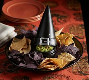 Pottery Barn Witch Hat Chip And Dip Serving Dish Halloween
