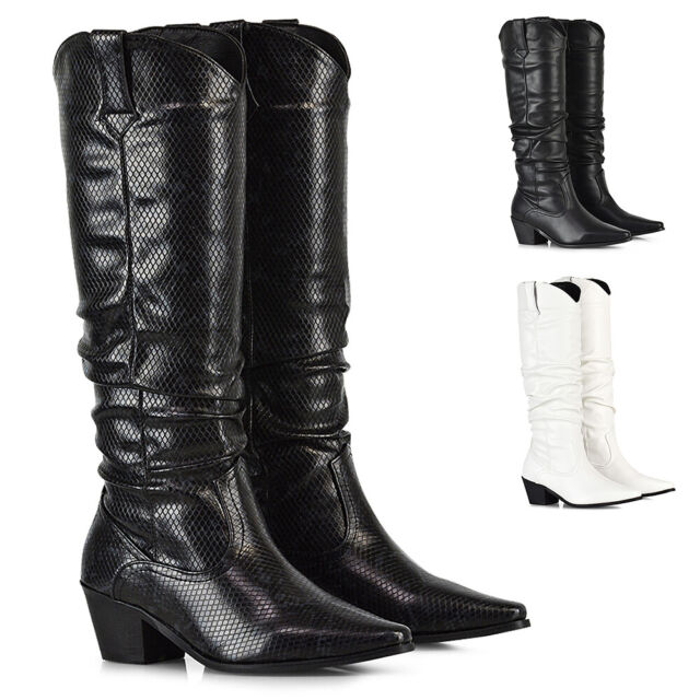 Womens Office Levi Western BOOTS White