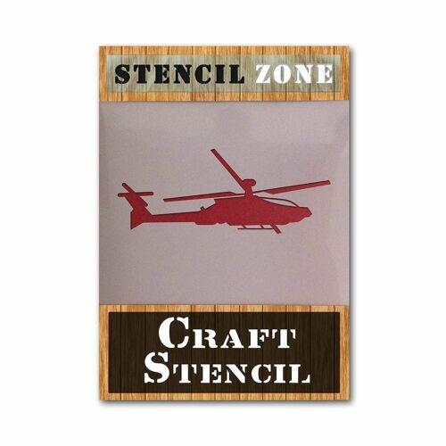 Helecopter aviones de Mylar Airrush Pintura Pared Arte Stencil 7