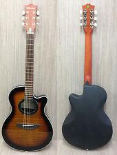 "Caraya C-836TBS 38"" Round-back Acoustic Guitar Tiger-burst +Free gig bag,D-Tuner"