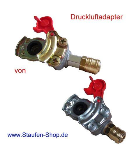Adapter für Druckluftanlage Druckluftadapter Vorrat Rot