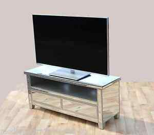 Image Is Loading VENETIAN MIRRORED TV STAND CABINET WITH