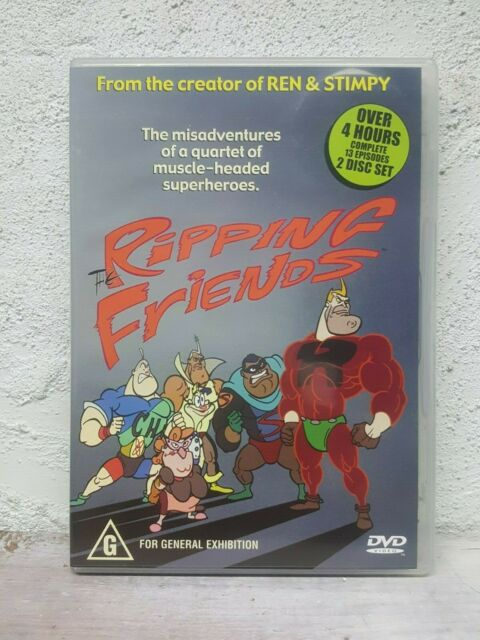 The Ripping Friends - Complete Series - DVD - OVER 4 HOURS !  Ren and Stimpy