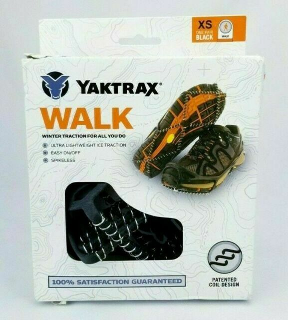 Yaktrax Walker Traction Cleats for Snow and Ice Large Clear