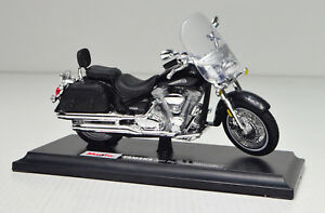 Yamaha-Road-Star-Silverado-Negro-Escala-1-18-Moto-Modelo-de-Maisto