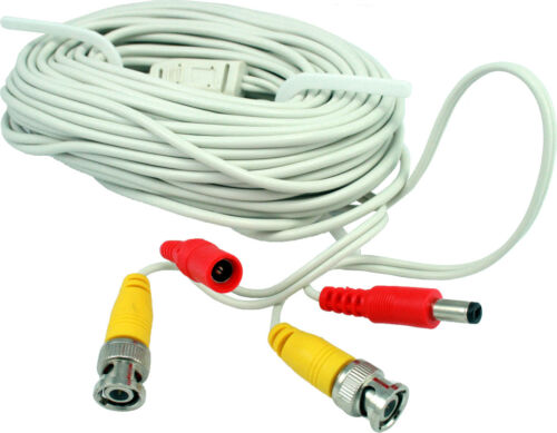 BNC + DC cable Power Cable 60 ft Premade Siamese CCTV Video